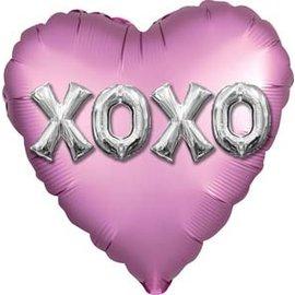 Foil Balloon - Satin xoxo Balloons Letters  - 18''
