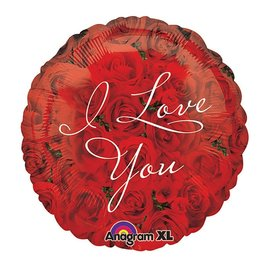 Foil Balloon - I Love You Roses - 17''