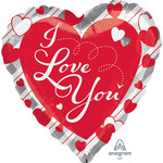 Foil Balloon - Supershape - I Love You - 28''