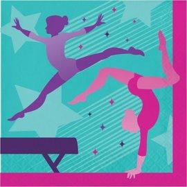 Napkins - LN - Gymnastics Party - 16pkg - 2ply