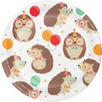"Plates - BV - Hedgehog Party - 7"" - 8pkg"