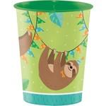 Cups - Plastic - Sloth Party - 16oz - 1pc