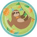 """Plates - LN - Sloth Party - 9"""" - 8pkg"""