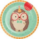 """Plates - LN - Hedgehog Party - 9"""" - 8pkg"""