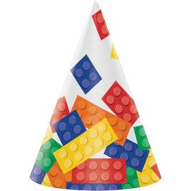 Hats-Cone-Block Party-8pkg-Paper