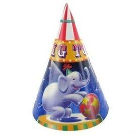 Hats-Cone-Big Top Circus-8pkg-Paper