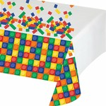 Tablecover-Rectangle-Block Party-Plastic - Discontinued