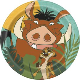 Beverage Paper Plates-Lion King-8pk-6 3/4""
