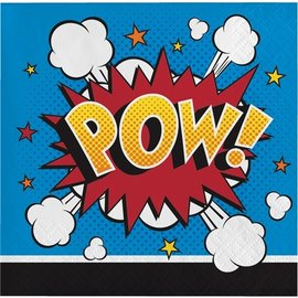 Napkins - BV - Super Hero Slogans - 16pkg - 2ply
