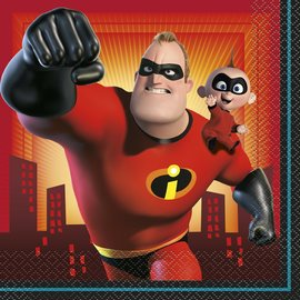 Luncheon Napkins-Incredibles 2-16pk-2ply
