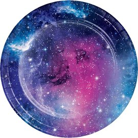 Beverage Paper Plates- Galaxy Party- 8pk-7""