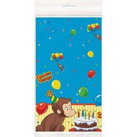 Table Cover-Curious George-Plastic-54'' x 84'' - Discontinued
