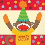 Napkins-Bev-Monkey Party-16pkg-2PLY