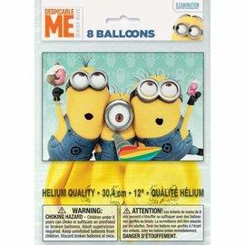 Balloons-Latex-Despicable ME-Minions-12''-8pk