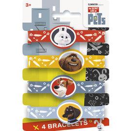 Bracelets-Secret Life of Pets-4pk