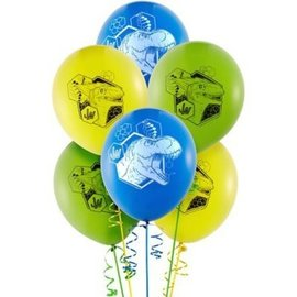 Balloons-Latex-Jurassic World-6pk-12""