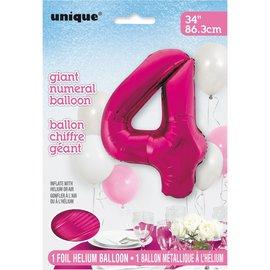 "Foil Balloon - Pink #4 - 34"""