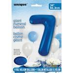 """Foil Balloon - Royal Blue #7 - 34"""""""