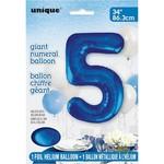 """Foil Balloon - Royal Blue #5 - 34"""""""