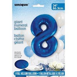 """Foil Balloon - Royal Blue #8 - 34"""""""