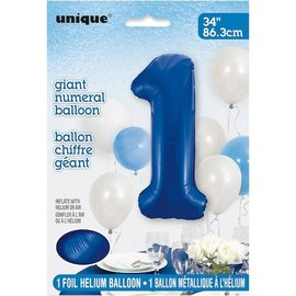 Foil Balloon - Royal Blue #1 - 34""