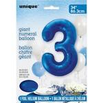 """Foil Balloon - royal Blue #3 - 34"""""""