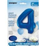 """Foil Balloon - Royal Blue #4 - 34"""""""