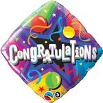 Foil Balloon - Congratulations Party Time - 18''