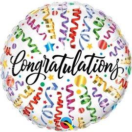 Foil Balloon - Congratulations Streamers - 18''