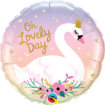 Foil Balloon - Oh Lovely Day Swan