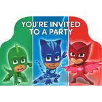 Invitations-PJ Masks-8pk