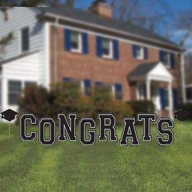 Yard Decorations - Congrats Grad - 10pkg