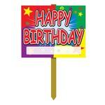 Yard Sign - Happy Birthday - 1pc
