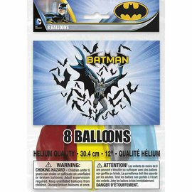 Balloons-Latex-Batman-8pkg-12""