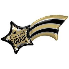 Foil Balloon - Supershape - Congrats Grad - 27''