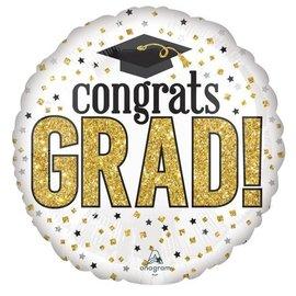 Foil Balloon - Supershape - Congrats Grad - 1pk