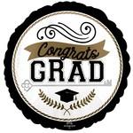 Foil Balloon -  Congrats Grad - 18'' - 1pc