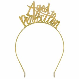 Headband - Aged to Perfection -  Gold - 1pc