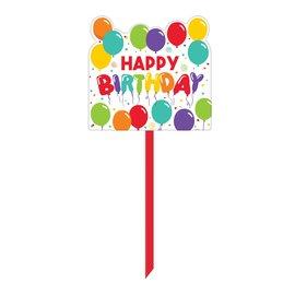 Lawn Sign - Happy Birthday - 1 pc