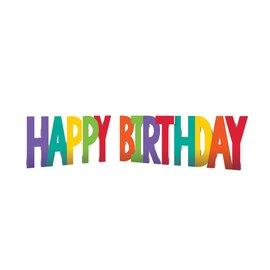 Yard Sign - Happy Birthday MultiColor - 12'' - 4pkg