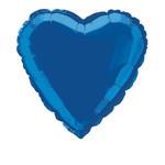 Foil Balloon - Heart - Royal Blue - 18''