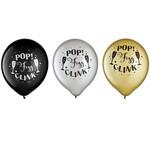 """Balloons Pop Fizz Clink 12"""" ( 15Pk) New Year"""