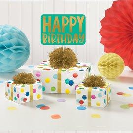 Table Decor - Happy Birthday Dots