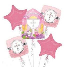Foil Balloon - First Communion Pink Bouquet