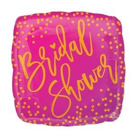 Foil Balloon - Bridal Shower  - Square - 18''