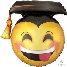Foil Balloon -  SuperShape - Grad Emoji - 26''