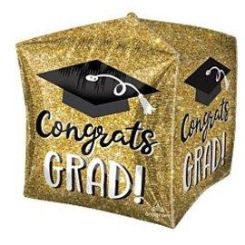 Foil Balloon - Cubez - Congrats Grad - 15''