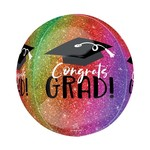 Foil Balloon - ORBZ - Congrats Grad - Multicolor - 15''