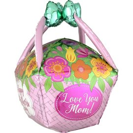 """Foil Balloon - Mother's Day Basket - 27"""""""