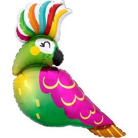 """Foil Balloon - Supershape - Tropical Parrot - 30"""""""